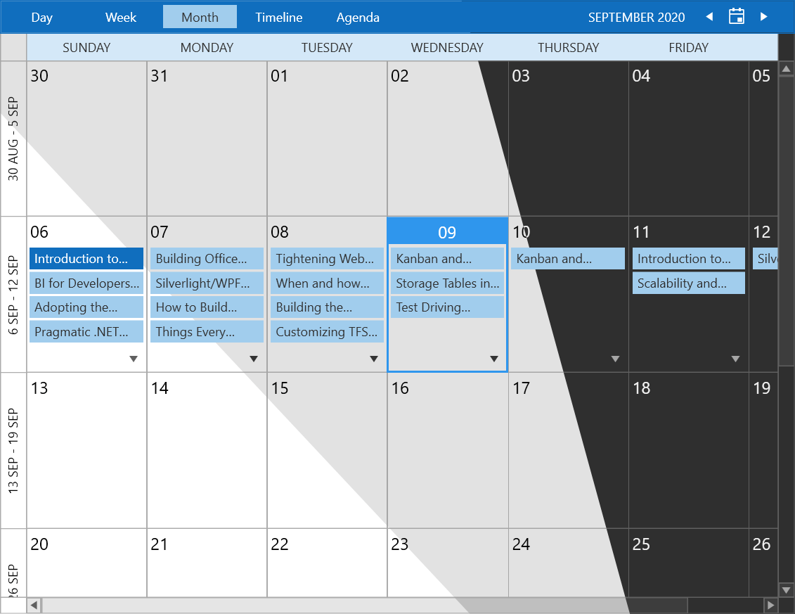 Office 2019 ScheduleView Variations