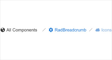 Telerik UI for ASP.NET AJAX Breadcrumb