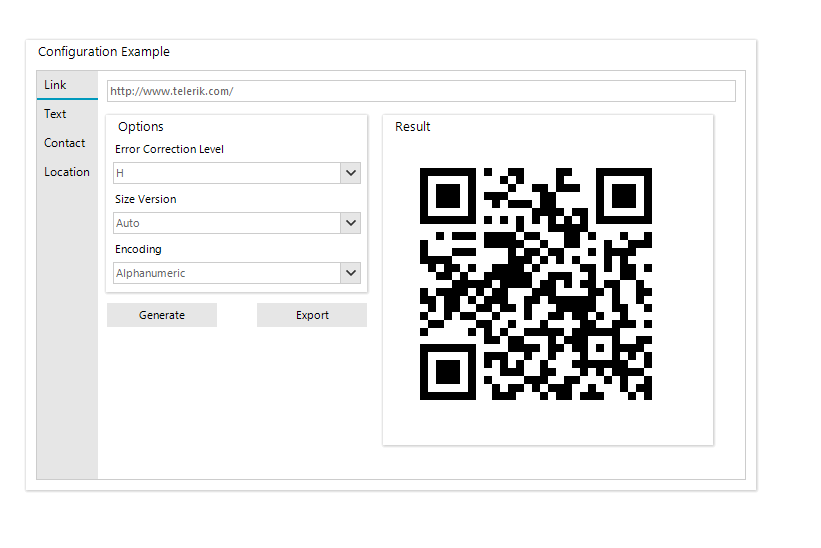Telerik UI for WinForms - BarCode Qr Overview image