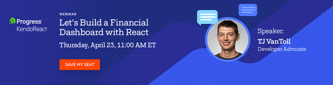 Build a Dashboard App with React Webinar with TJ VanToll