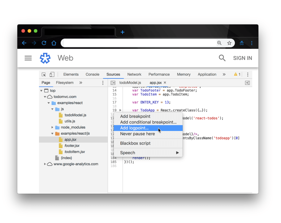 Decongest Your Codebase with Logpoints in Chrome DevTools