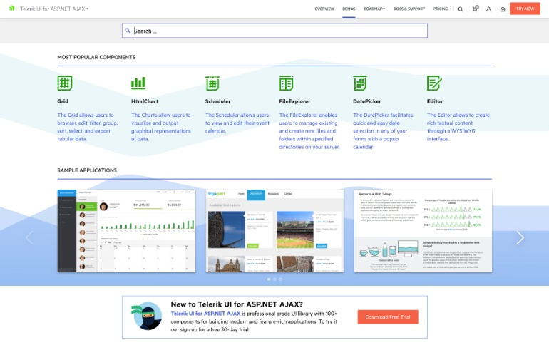 Telerik UI for Ajax Demos