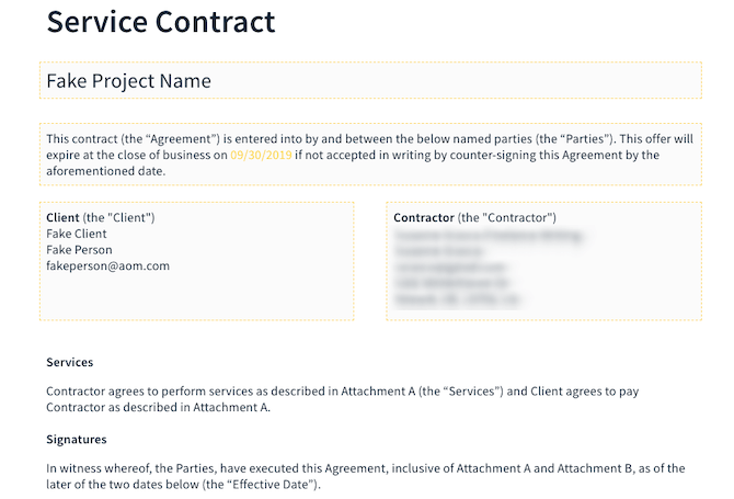 AND CO Contract