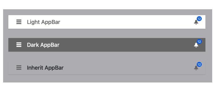 Angular AppBar - Theme Color