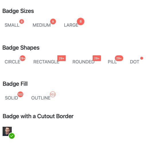 Angular Badge - Appearance