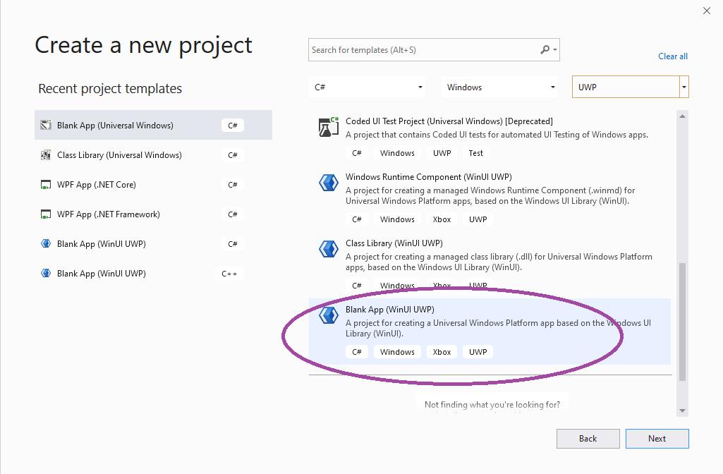 Creating WinUI 3.0 Project in WinUI