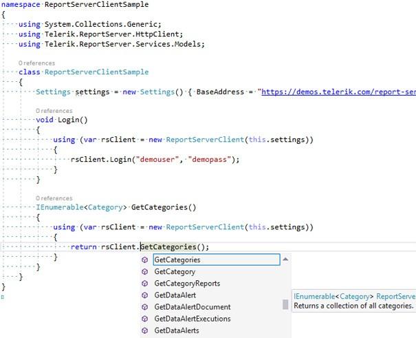 api client code