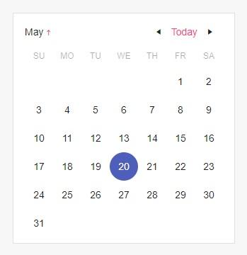 Calendar - Custom Rendering