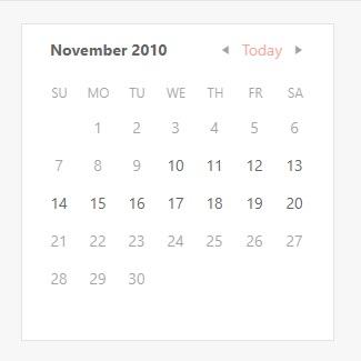 Calendar - Date Limits