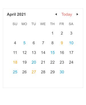 Telerik UI for Blazor Calendar - Templates