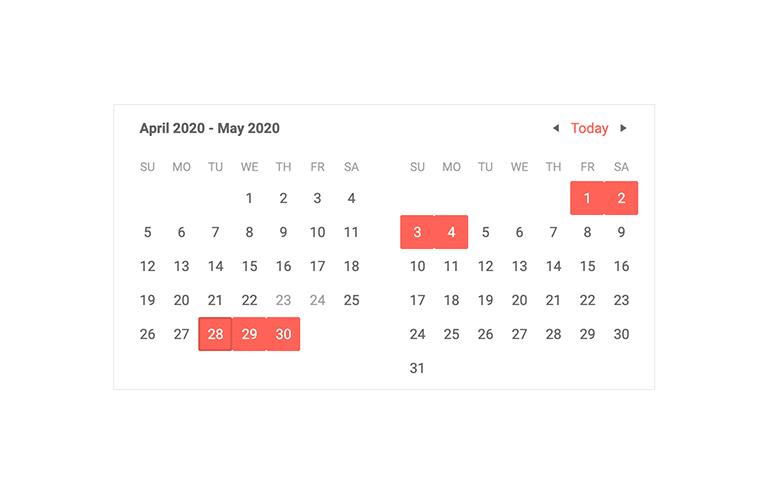 Telerik UI for Blazor Calendar Multiview