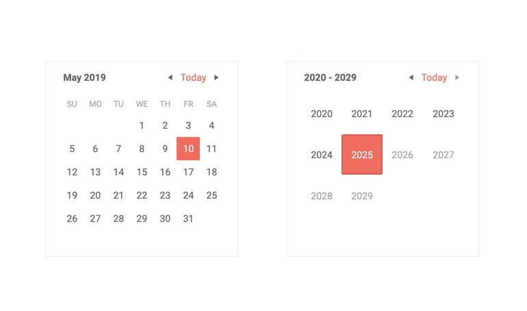 Telerik UI for Blazor Calendar Overview