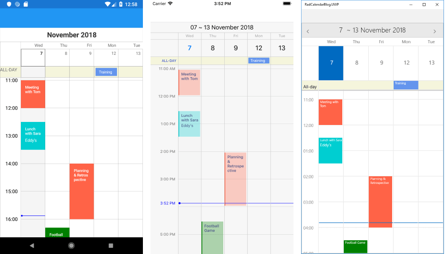 New Scheduling Capabilities with Calendar for Xamarin Forms