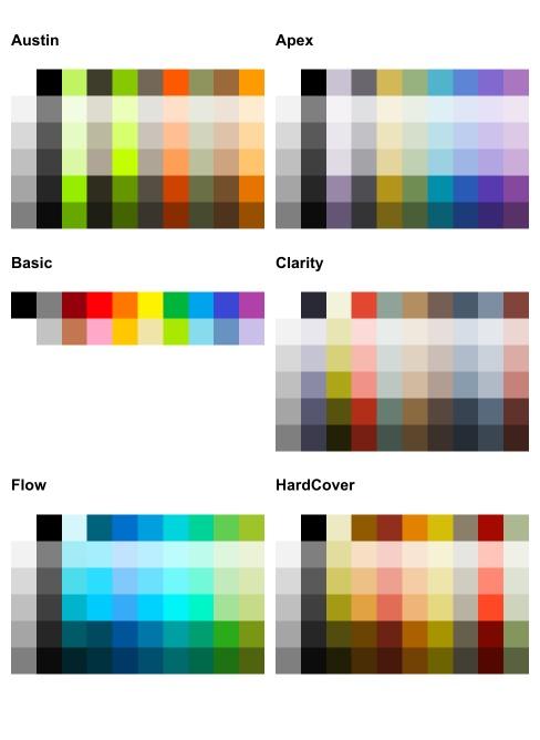 Telerik UI for Blazor ColorPalette - Color Presets