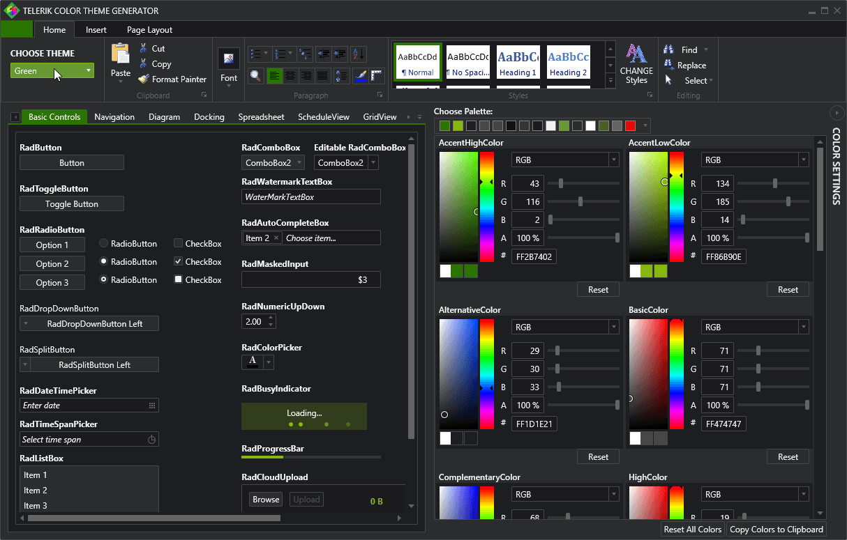 Color Theme Generator Is Now Available For Wpf