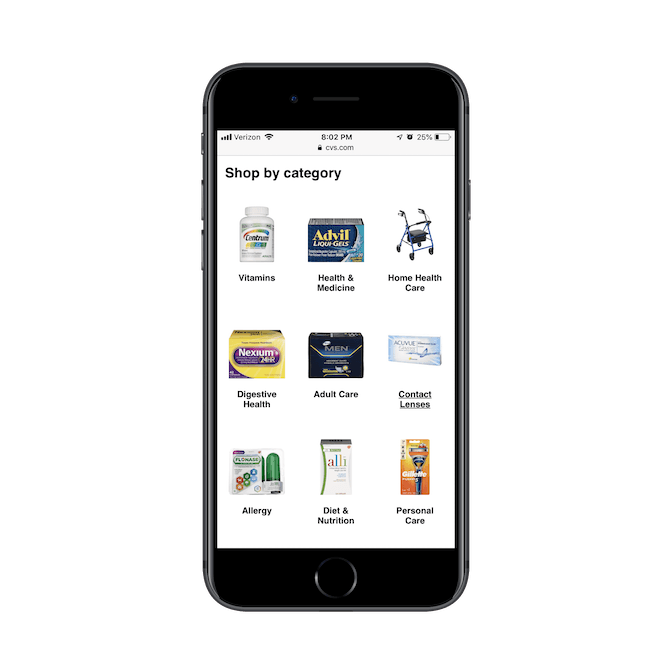 CVS PWA - internal page