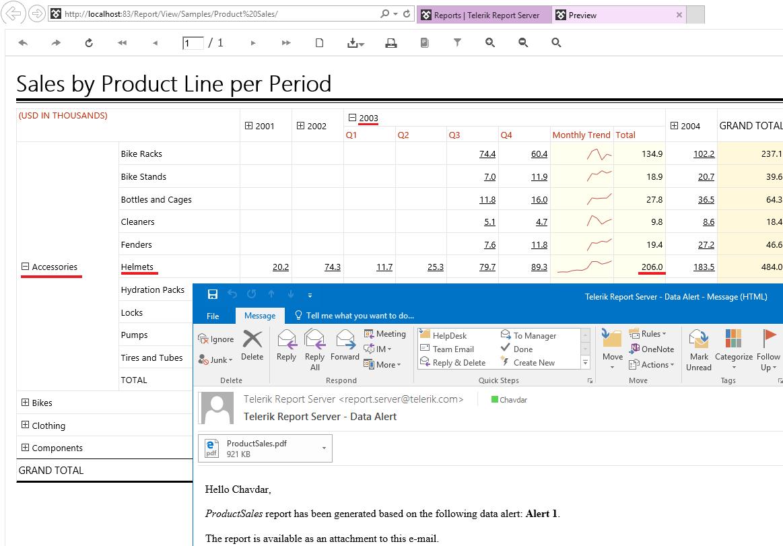 Report Server Data Alerts