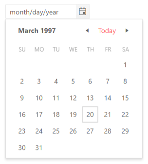 DatePicker - Focused Dates