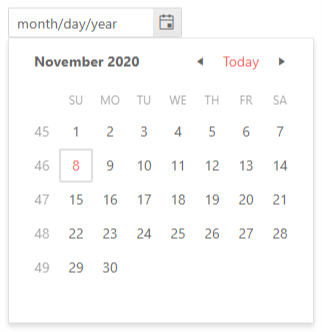 DatePicker - Week Number Column
