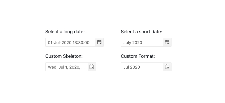 DatePicker – Formats
