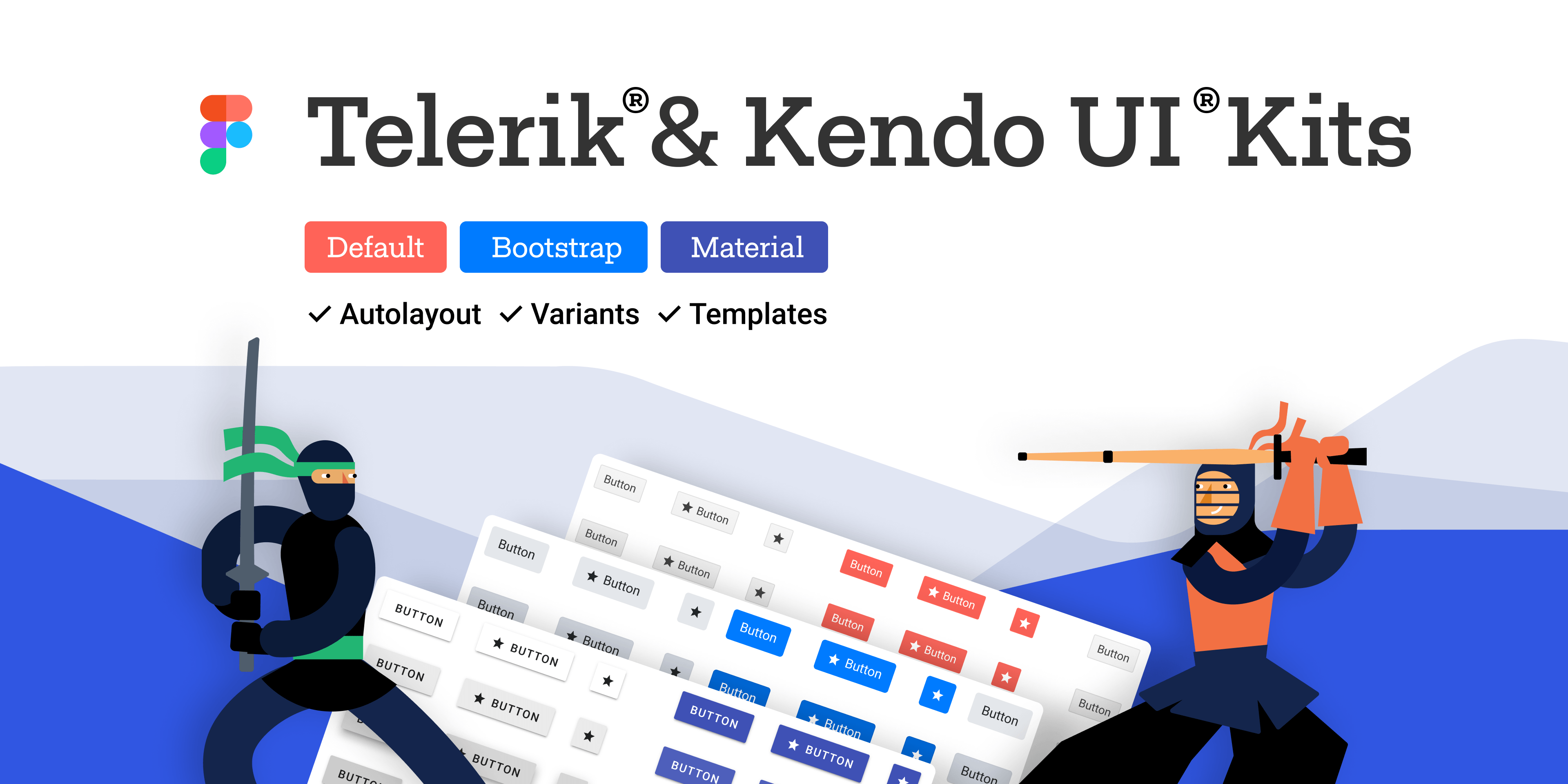 Telerik and Kendo UI Design Kits for Figma