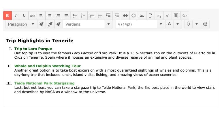 New Telerik UI for PHP Editor Feature: Roman Numerals