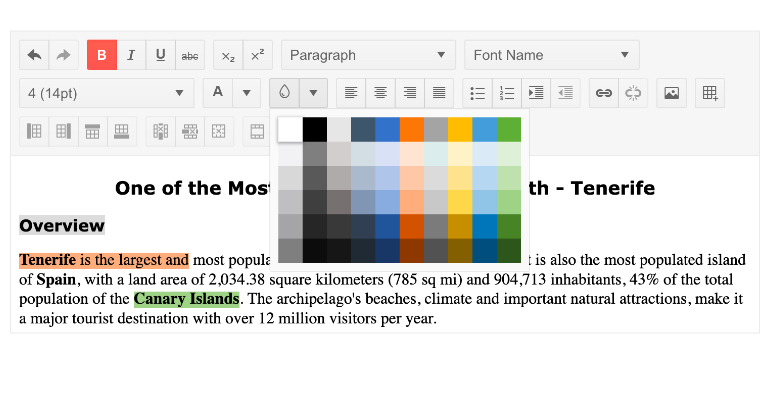 Telerik UI for Blazor Editor - Highlighting Tools