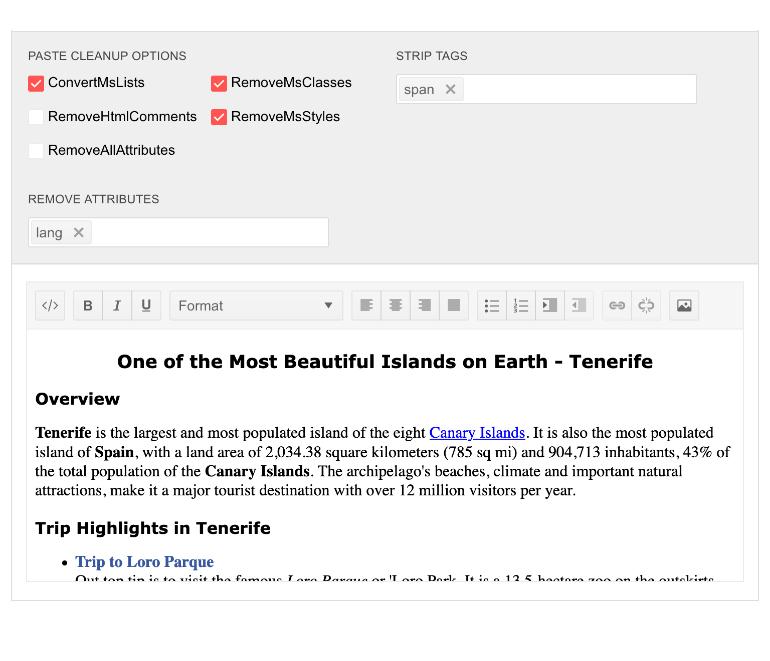 Telerik UI for Blazor Editor - Pasting Capabilities