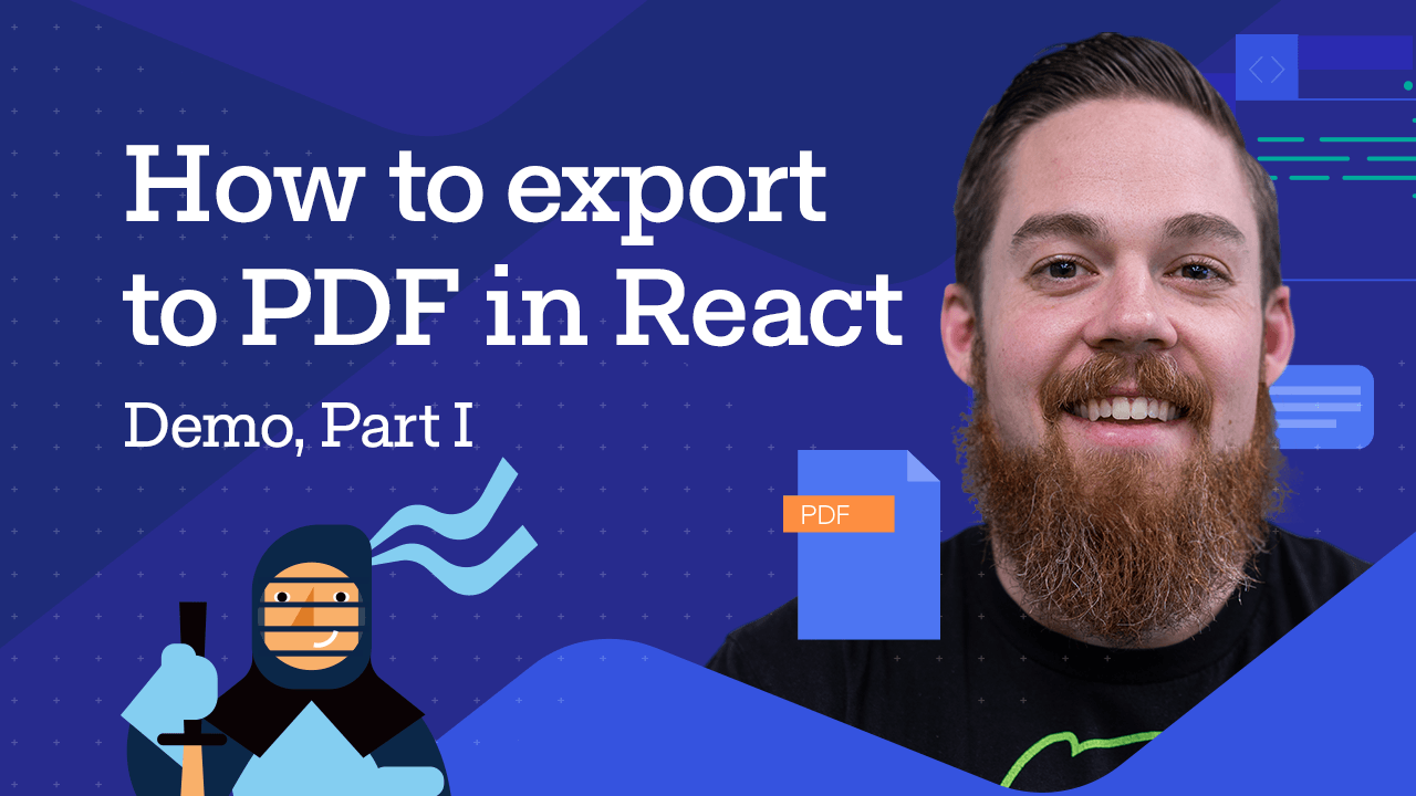 Export to PDF in React - Methods with Carl Bergenhem