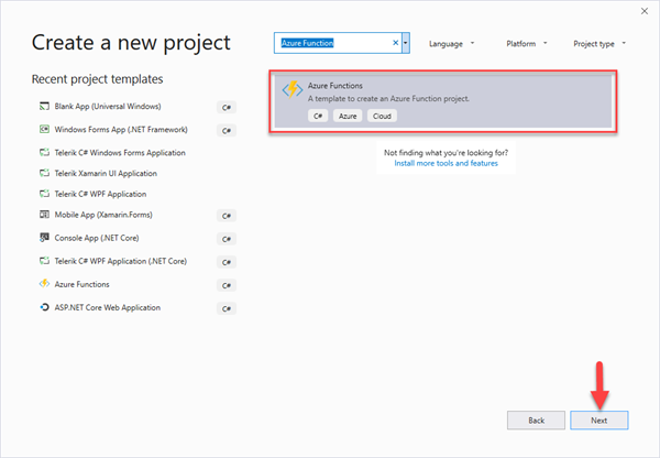 Create a new Azure Functions project
