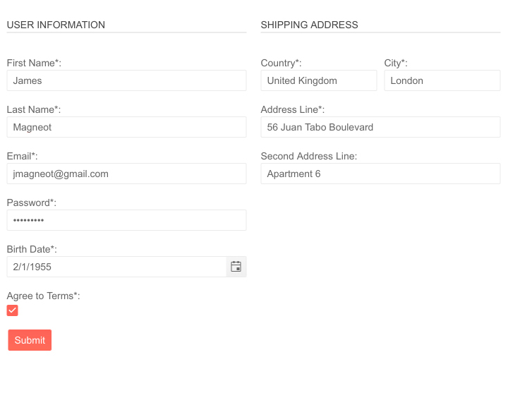 Telerik UI for Blazor Form - Layout