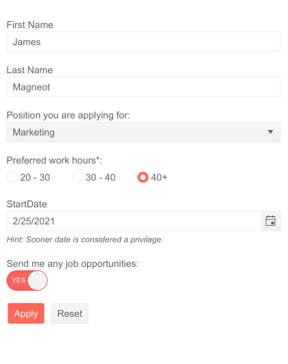 Telerik UI for Blazor Form - Templates