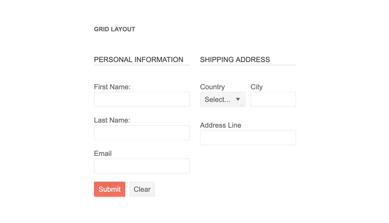 Telerik UI for PHP Form Overview