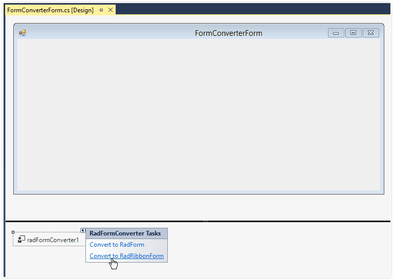 Telerik UI for WinForms - Forms and Dialogs - Converter Image