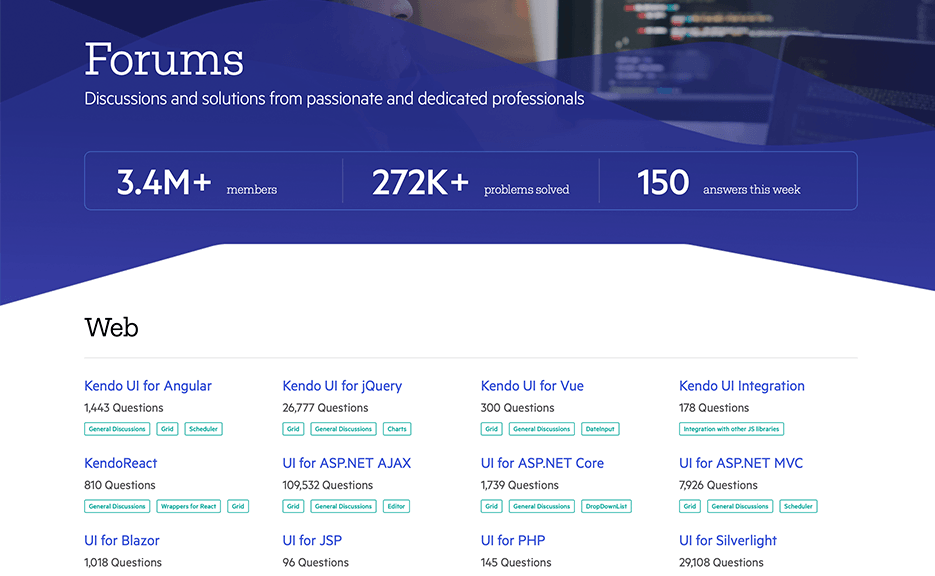 Telerik and Kendo UI Forums Hub