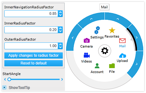 Fully Customizable Appearance in Radial Menu for WPF