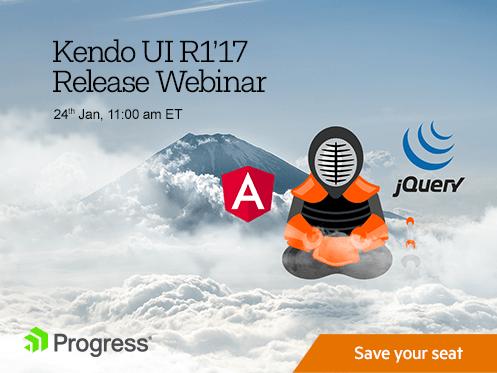 Kendo UI R1 2017 Release Webinar