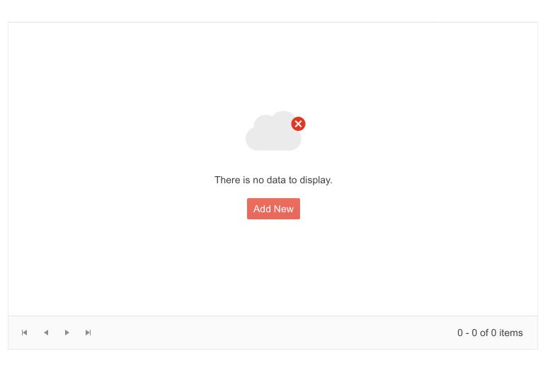 Telerik UI for Blazor Grid - No data template