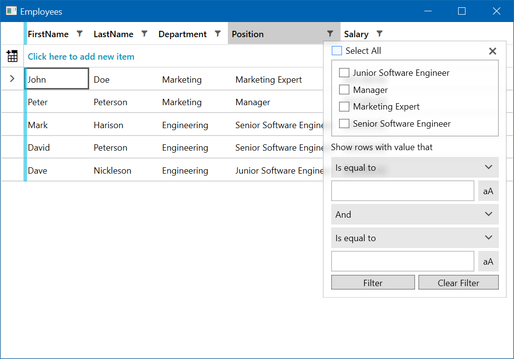 WPF DataGrid Filtering Image