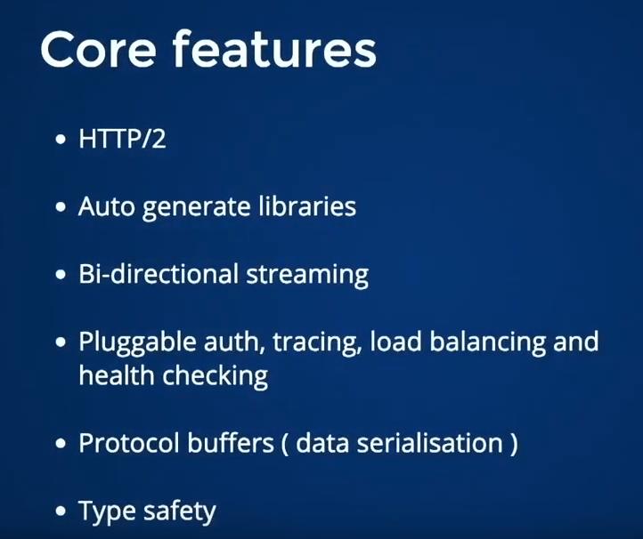 grpcs-features