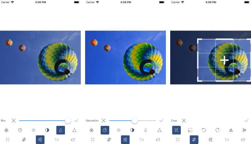 ImageEditor Toolbar on iOS