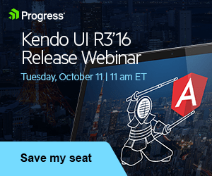 Kendo UI R3 2016 Release Webinar
