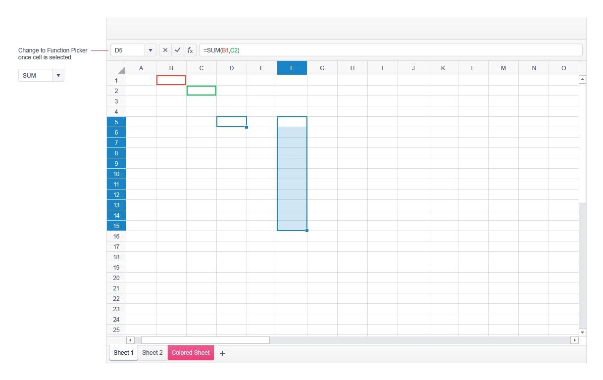 Kendo UI Spreadsheet