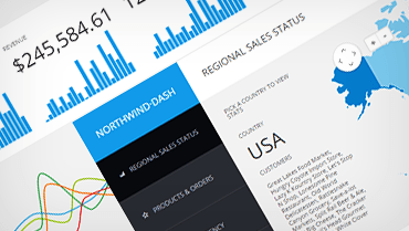 Responsive HTML5 JavaScript Demo Northwind Dashboard