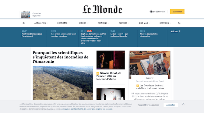 Le Monde Cookie Notice