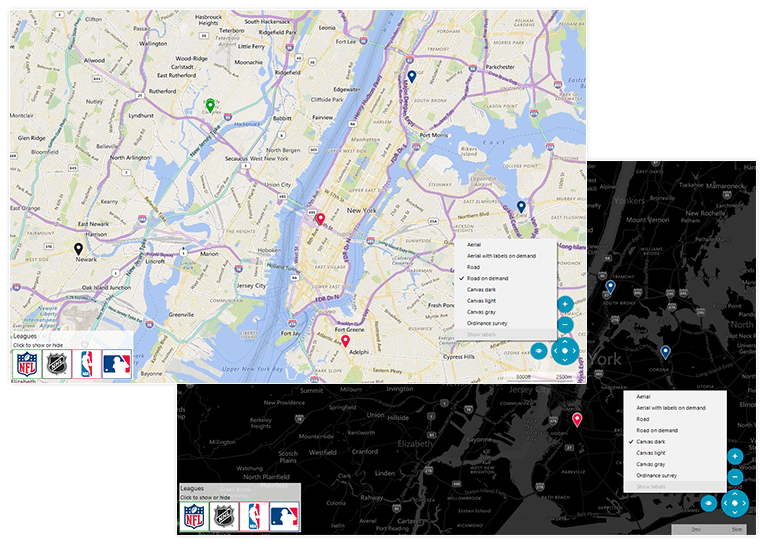 Telerik UI for WinForms - Map Component - Modes Image