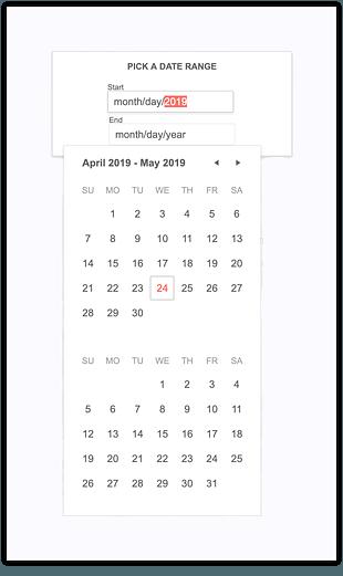 Mobile Support for DateRangePicker
