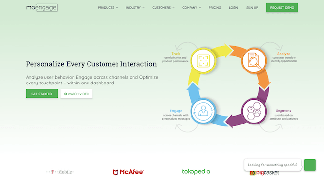 MoEngage Home Page