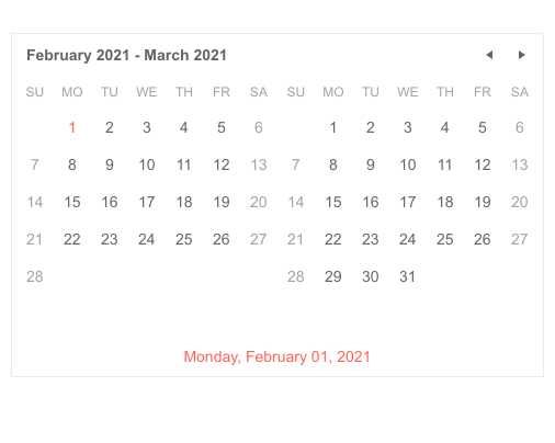Telerik UI for ASP.NET Core MultiViewCalendar