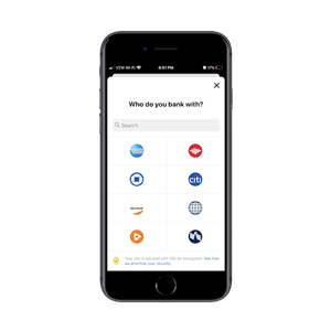 Nerdwallet helps users quickly connect their budgeting and savings app to other banks.